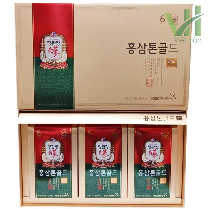 Sản phẩm nước hồng sâm Tonic Gold chính chủ KGC