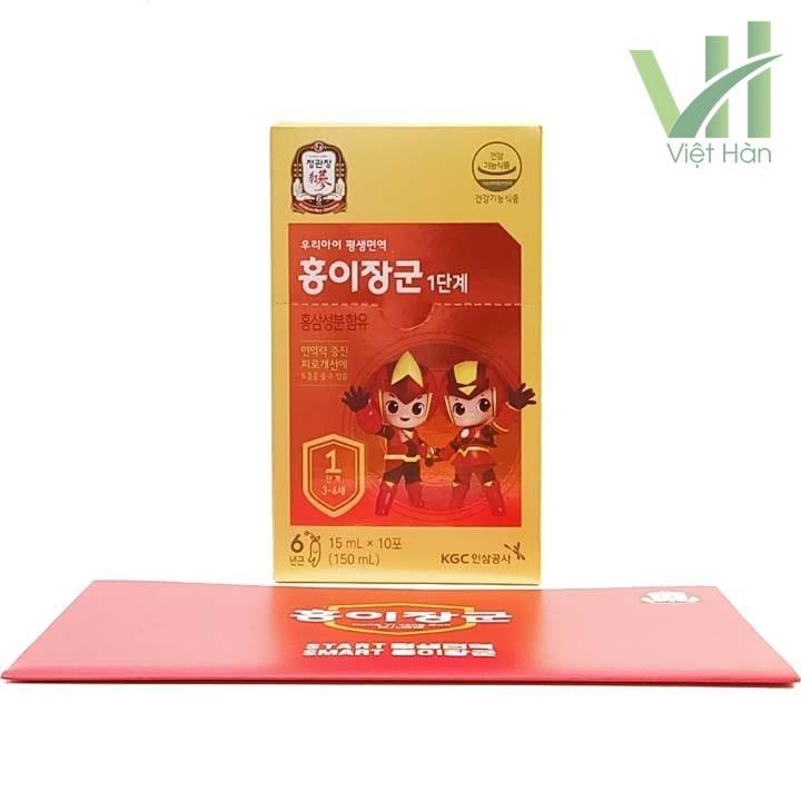 Hộp bên trong sản phẩm nước hồng sâm trẻ em Cheong Kwang Jang KGC