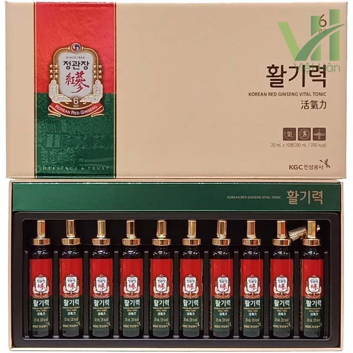 Sản phẩm nước hồng sâm Vital KGC - 20ml x 10 ống