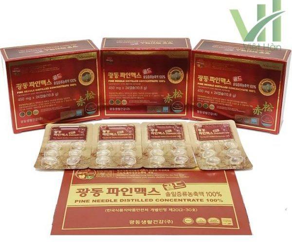 Sản phẩm tinh dầu thông đỏ Kwangdong 120 viên Hàn Quốc