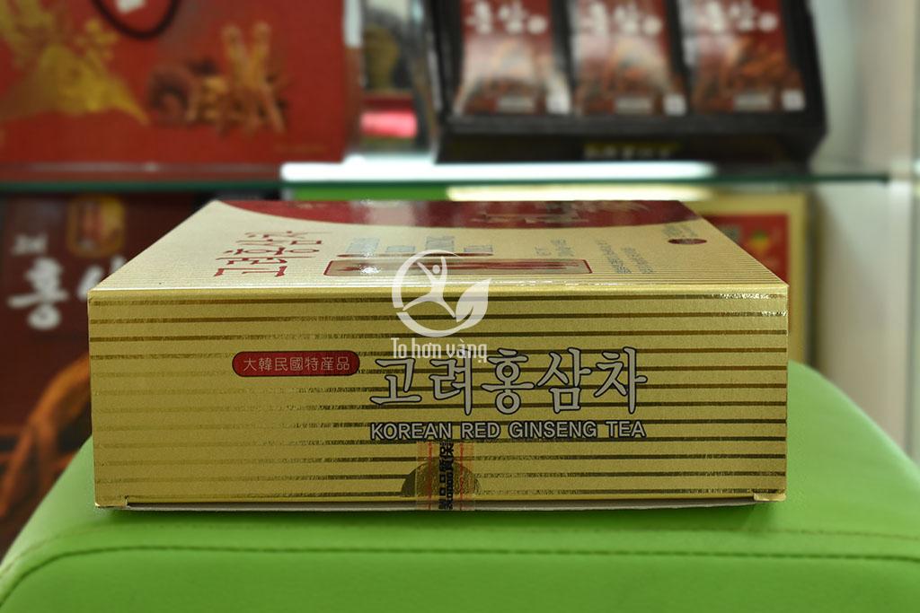 Hình ảnh góc trái hộp Trà Hồng Sâm Hàn Quốc KGS 100g X 3 Gói