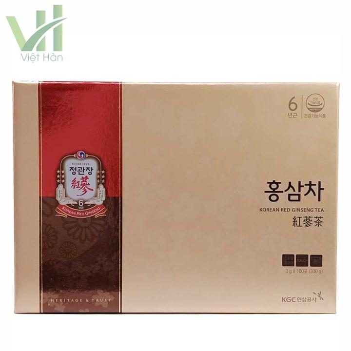 Măt trước sản phẩm trà hồng sâm KGC Cheong Kwan Chang 100 gói