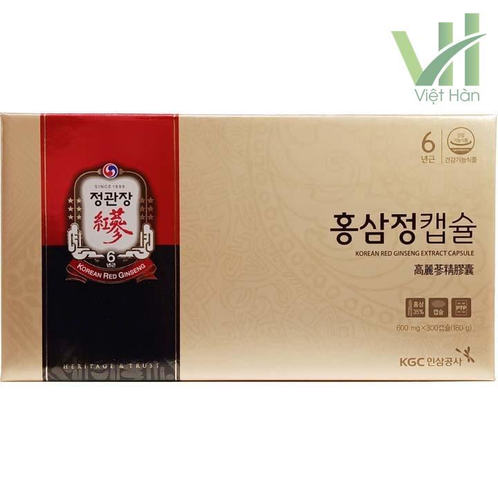 Mặt trước sản phẩm viên hồng sâm chính phủ Hàn Quốc KGC 100 viên x 3 hộp