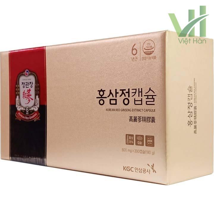 Góc sản phẩm viên hồng sâm chính phủ Hàn Quốc KGC 100 viên x 3 hộp