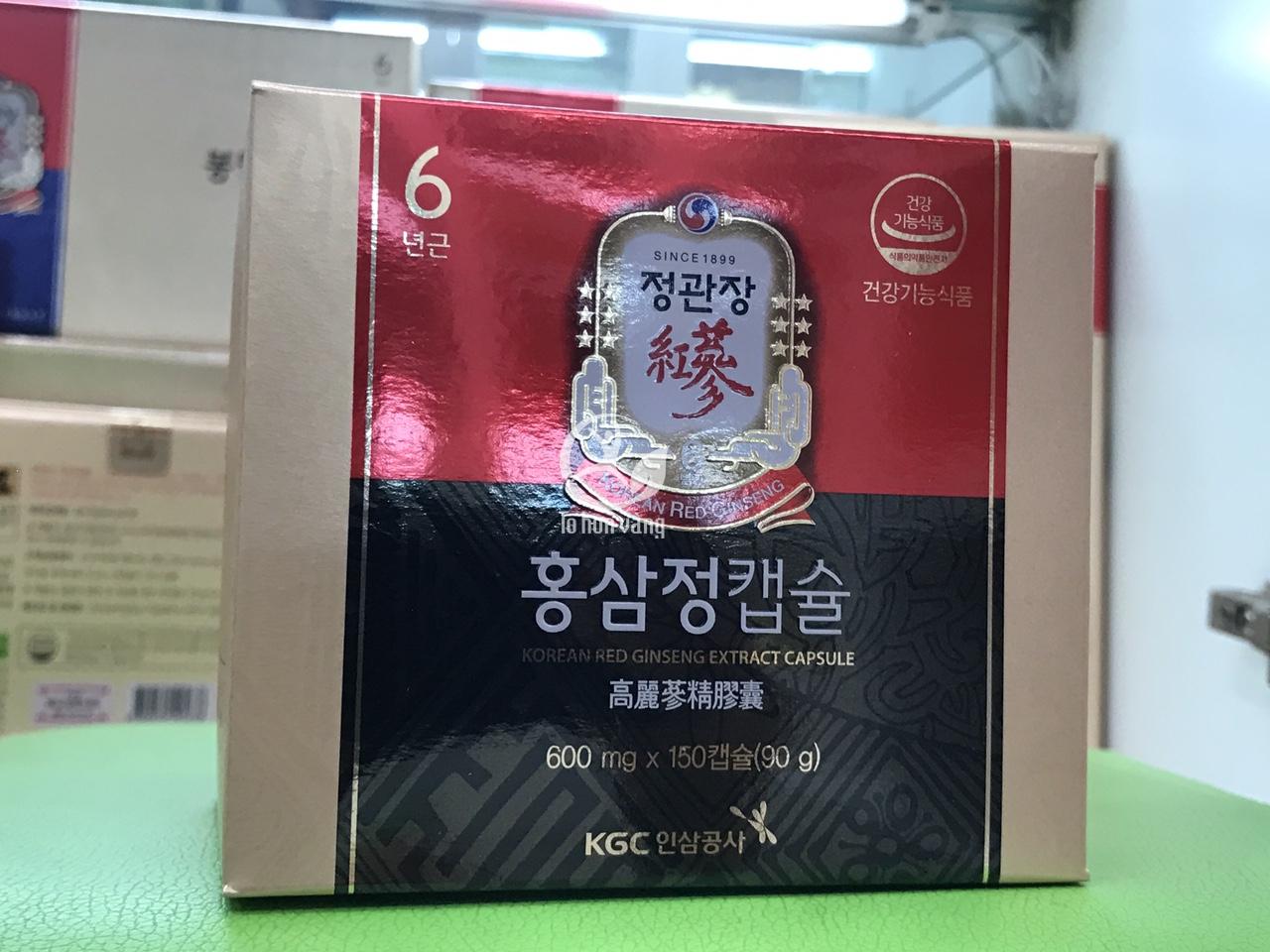 Hình ảnh viên hồng sâm chính phủ Hàn Quốc KGC 100 viên x 3 hộp