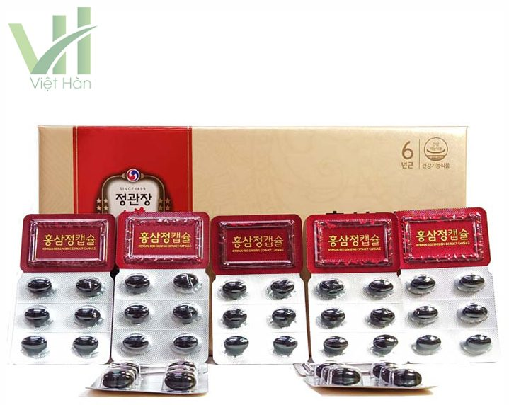 Sản phẩm viên hồng sâm chính phủ Hàn Quốc KGC 150 viên x 2 hộp