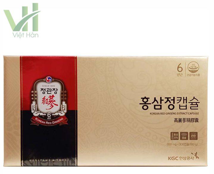 Mặt trước sản phẩm viên hồng sâm chính phủ Hàn Quốc KGC 150 viên x 2 hộp