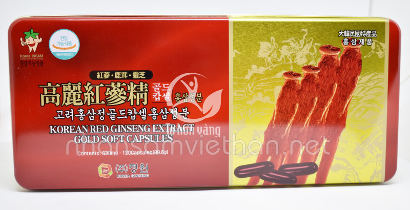 Viên hồng sâm Hàn Quốc Dongwon 120 viên hộp thiết có tác dụng điều hòa huyết áp, bảo vệ tim mạch, bảo vệ gan