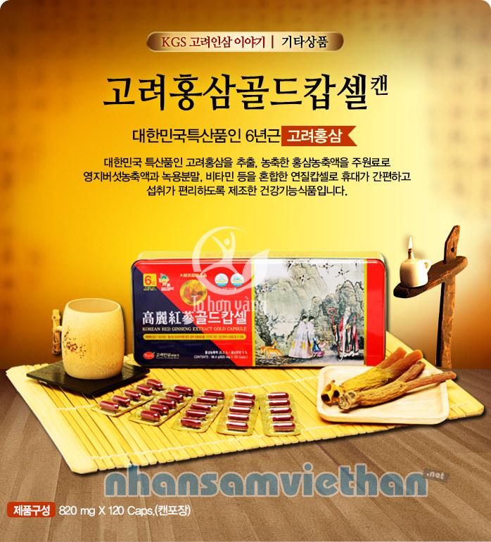 Hình ảnh Viên Hồng Sâm Hàn Quốc KGS 120 Viên Hộp Thiếc