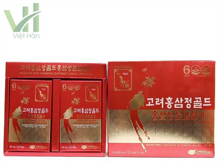 Bên trong sản phẩm viên hồng sâm Hàn Quốc KGS 2 lọ