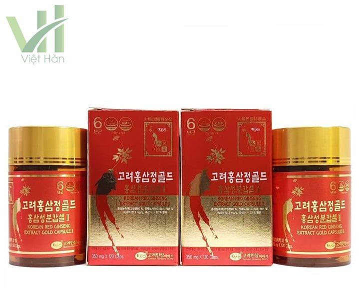Sản phẩm viên hồng sâm Hàn Quốc KGS 2 lọ