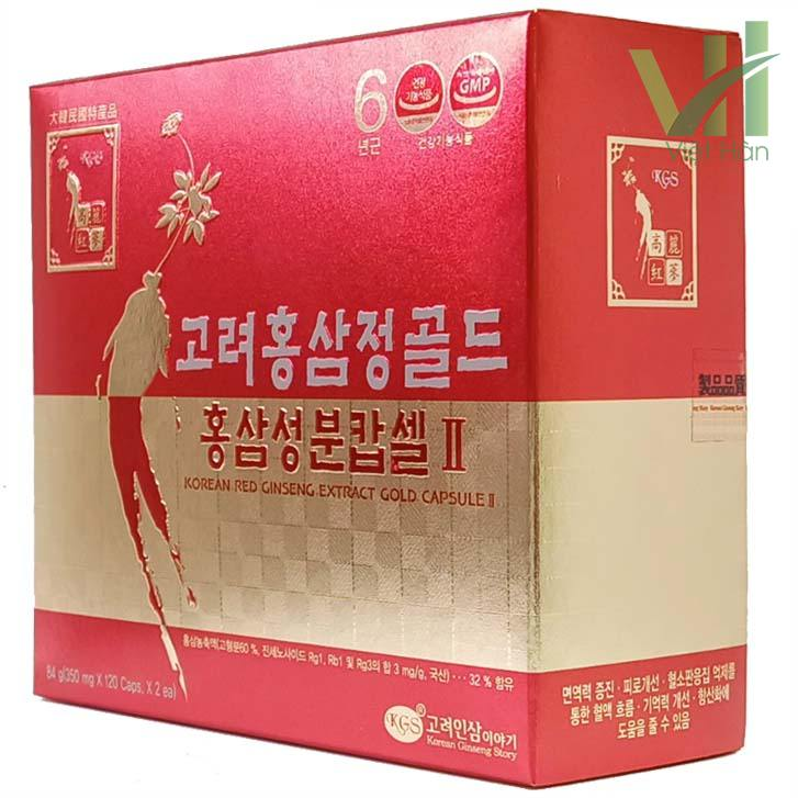 Góc sản phẩm viên hồng sâm Hàn Quốc KGS 2 lọ