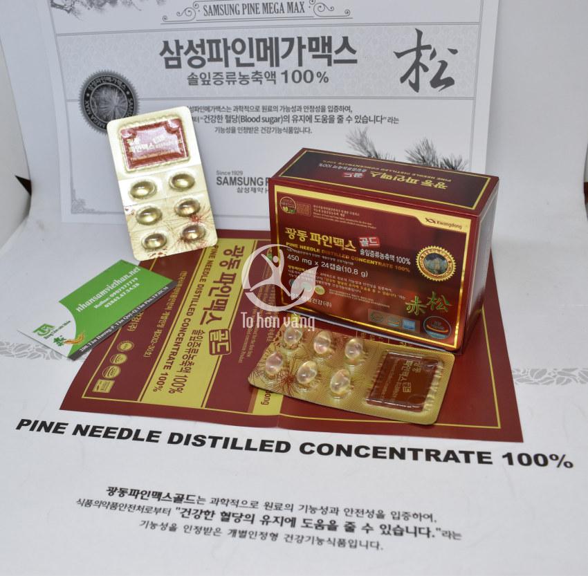 Hình ảnh thông tin chi tiết viên tinh dầu thông đỏ Kwangdong 120 viên Hàn Quốc