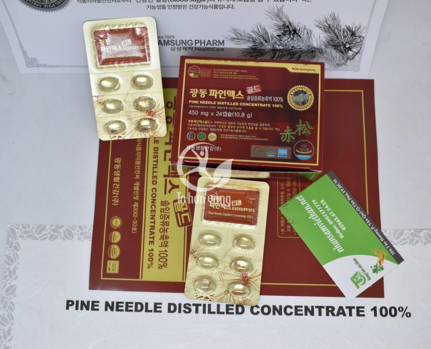 Hình ảnh chi tiết viên tinh dầu thông đỏ Kwangdong 120 viên Hàn Quốc