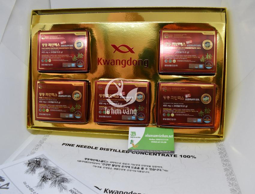Hình ảnh viên tinh dầu thông đỏ Kwangdong 120 viên Hàn Quốc