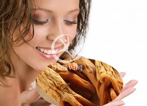 Hồng sâm giúp phụ nữa có làn da mịn màng