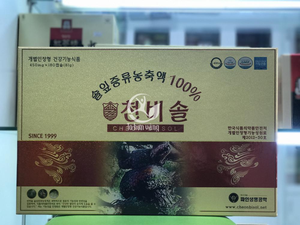 Tinh dầu thông đỏ Cheon Bi Sol cao cấp 180 viên ngày càng được người tiêu dùng sử dụng nhiều