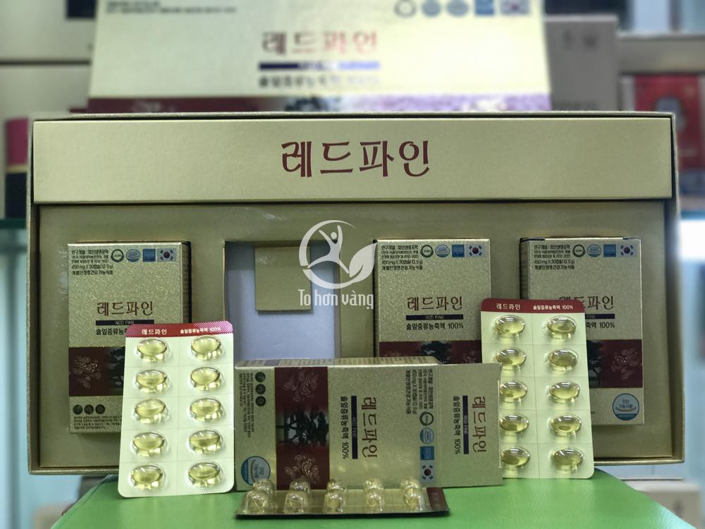 Hình ảnh chi tiết tinh dầu thông đỏ Hàn Quốc Dami Han Sol cao cấp chính phủ 120 Viên