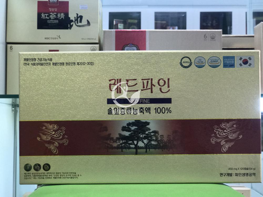 Hình ảnh Tinh dầu thông đỏ Hàn Quốc Dami Han Sol cao cấp chính phủ 120 Viên