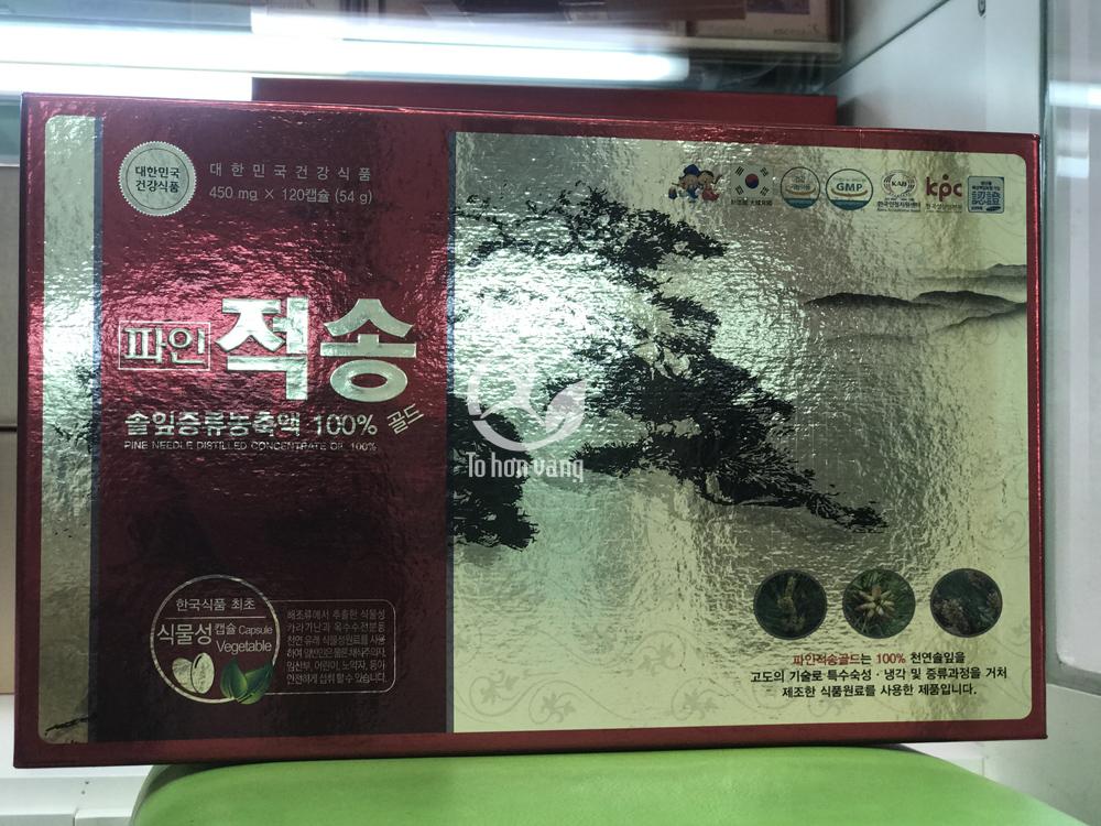 Hình ảnh Tinh dầu thông đỏ Pinejeoksong Gold cao cấp 120 viên