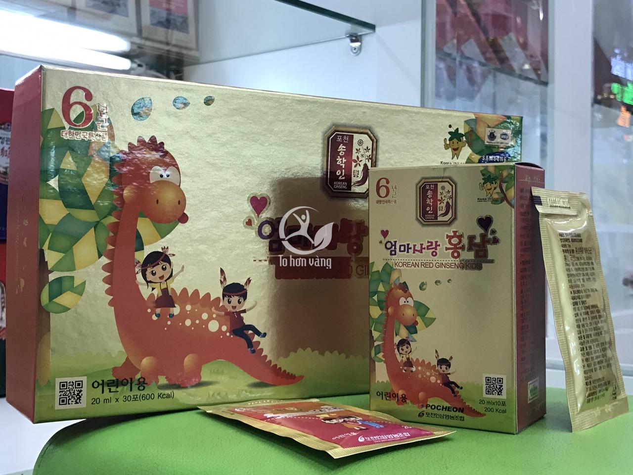Hình ảnh chi tiết hộp Hồng sâm baby hươu cao cổ