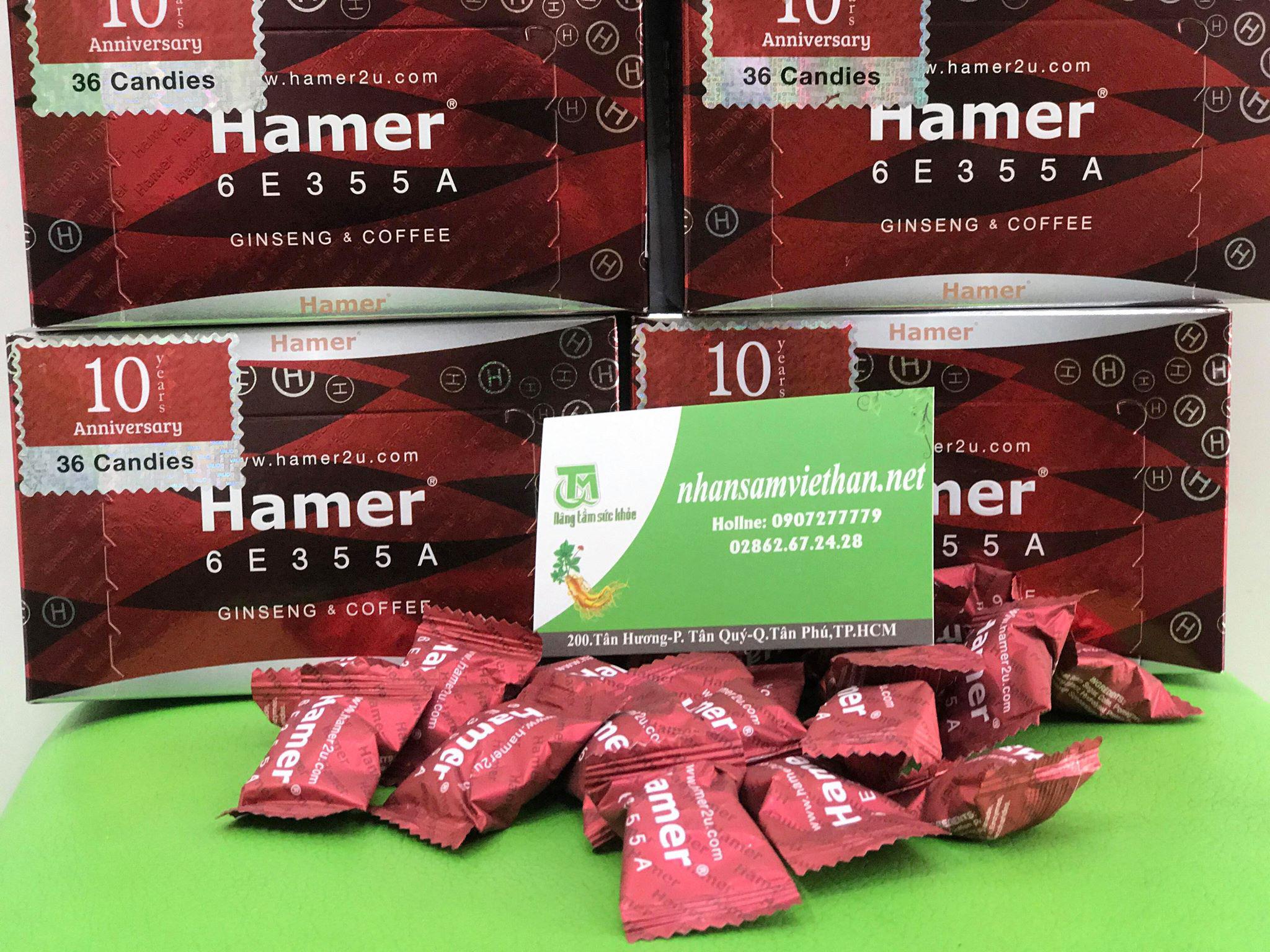 Hình ảnh: Sản phẩm kẹo Hamer chính hãng tại hệ thống showroom Nhân sâm Việt Hàn