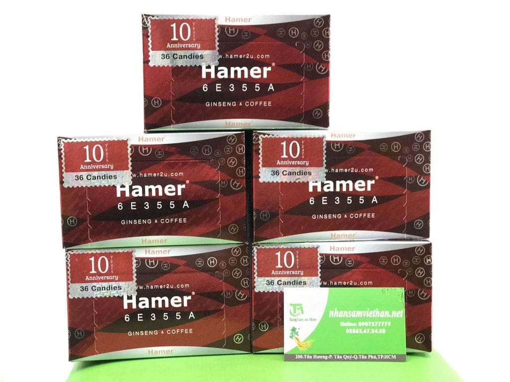 Kẹo sâm Hamer giá bao nhiêu?