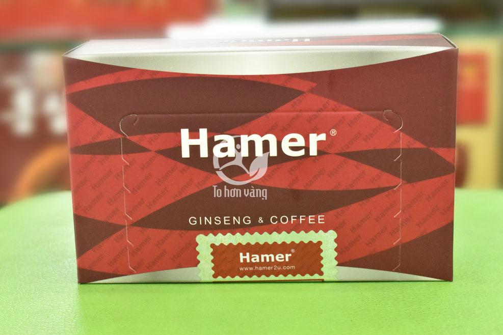 Tem chính hãng cảu sản phẩm kẹo sâm Hamer