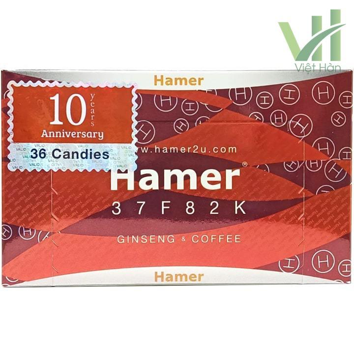 Mặt trước sản phẩmKẹo sâm Hamer Mỹ chính hãng