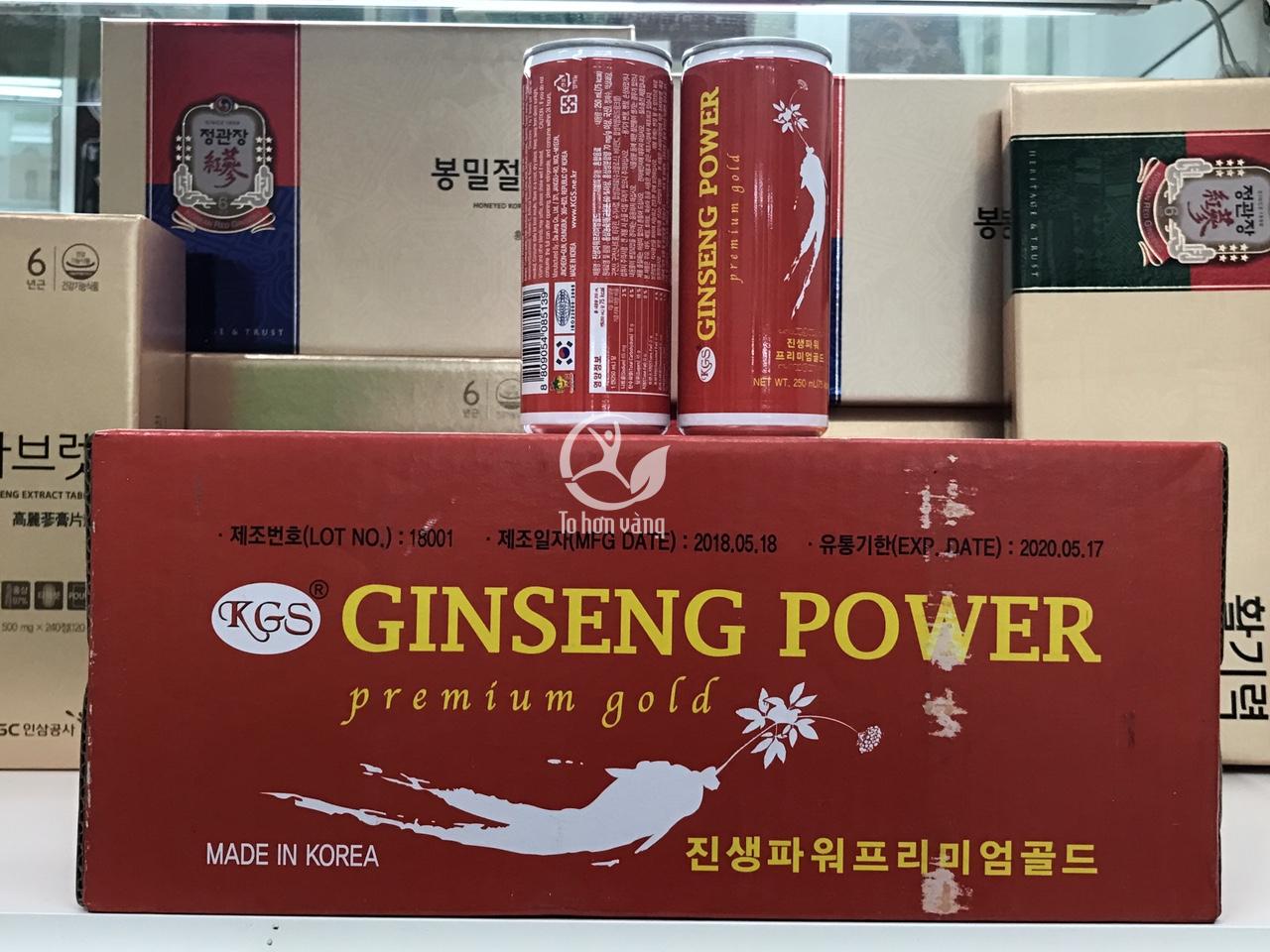 Hình ảnh Nước hồng sâm lon Ginseng Power 24 lon KGS