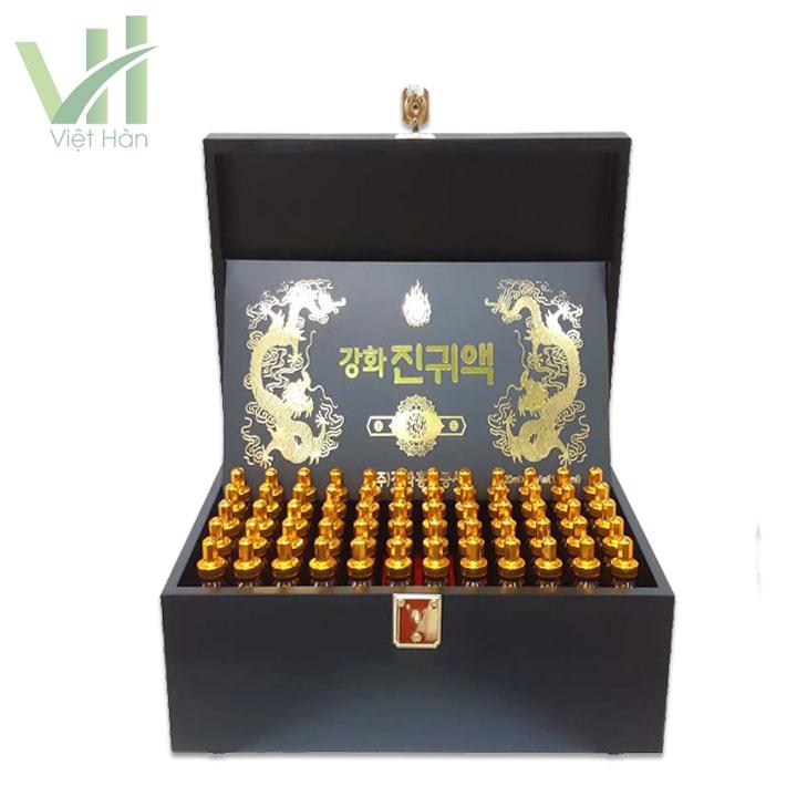 Chi tiết bên trong sản phẩm tinh chất đông trùng hạ thảo Hàn Quốc 60 ống Kanghwa