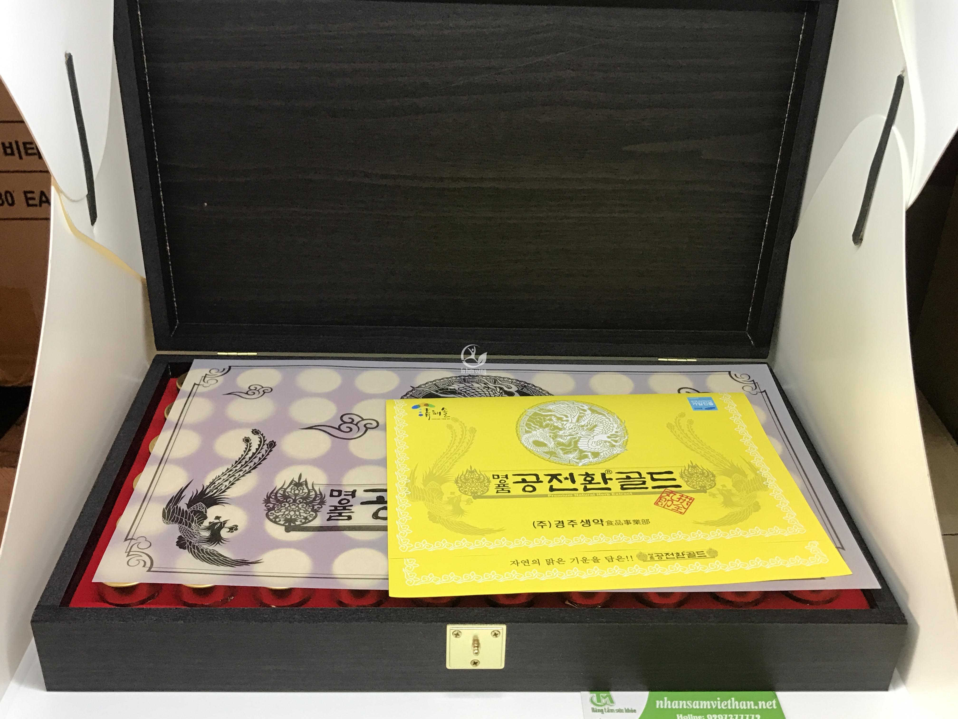 Hình ảnh Viên đông trùng hạ thảo Hàn Quốc hộp gỗ 60 viên