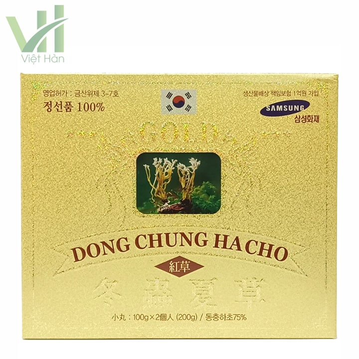 Sản phẩm viên đông trùng hạ thảo Kimsan Hàn Quốc 100 gam x 2 lọ