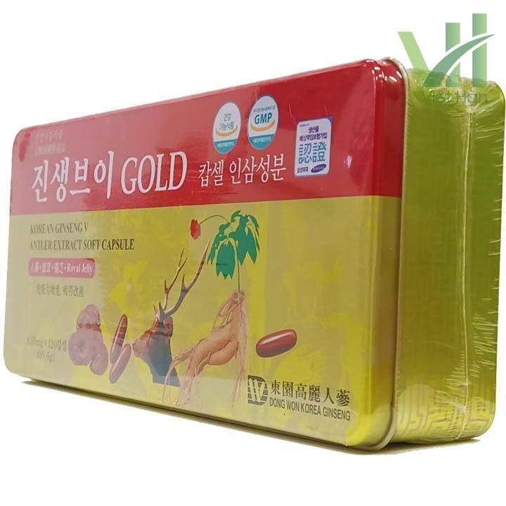 Góc sản phẩm viên hồng sâm linh chi nhung hươu Hàn Quốc 120 viên Dongwon