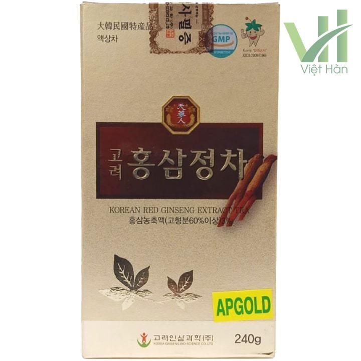 Mặt sau sản phẩm cao hồng sâm Bio 240g - Chiết xuất từ nhân sâm