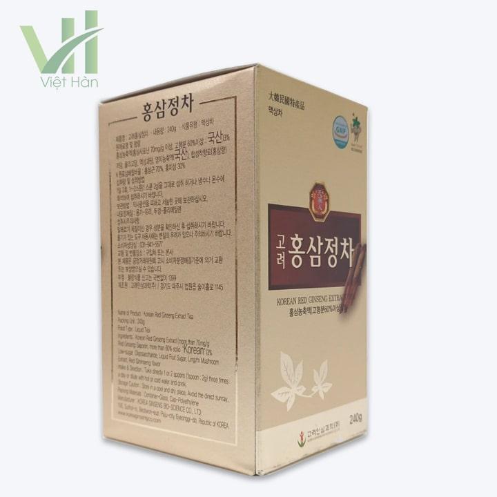 <em>Góc sản phẩm cao hồng sâm Bio 240g - Chiết xuất từ nhân sâm</em>