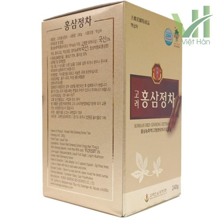 Góc sản phẩm cao hồng sâm Bio 240g - Chiết xuất từ nhân sâm