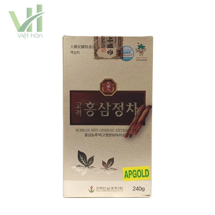 <em>Mặt sau sản phẩm cao hồng sâm Bio 240g - Chiết xuất từ nhân sâm</em>