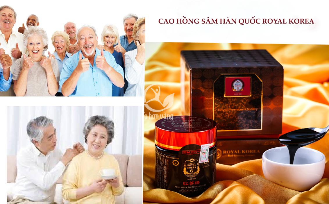 Người già từ 60 tuổi trở lên là đối tượng phù hợp nhất để sử dụng cao hồng sâm