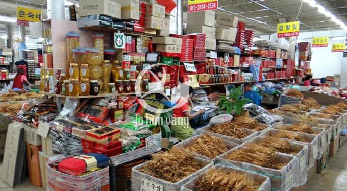 Chợ sâm Geumsan là khu chợ sâm nổi tiếng và lớn nhất Hàn Quốc