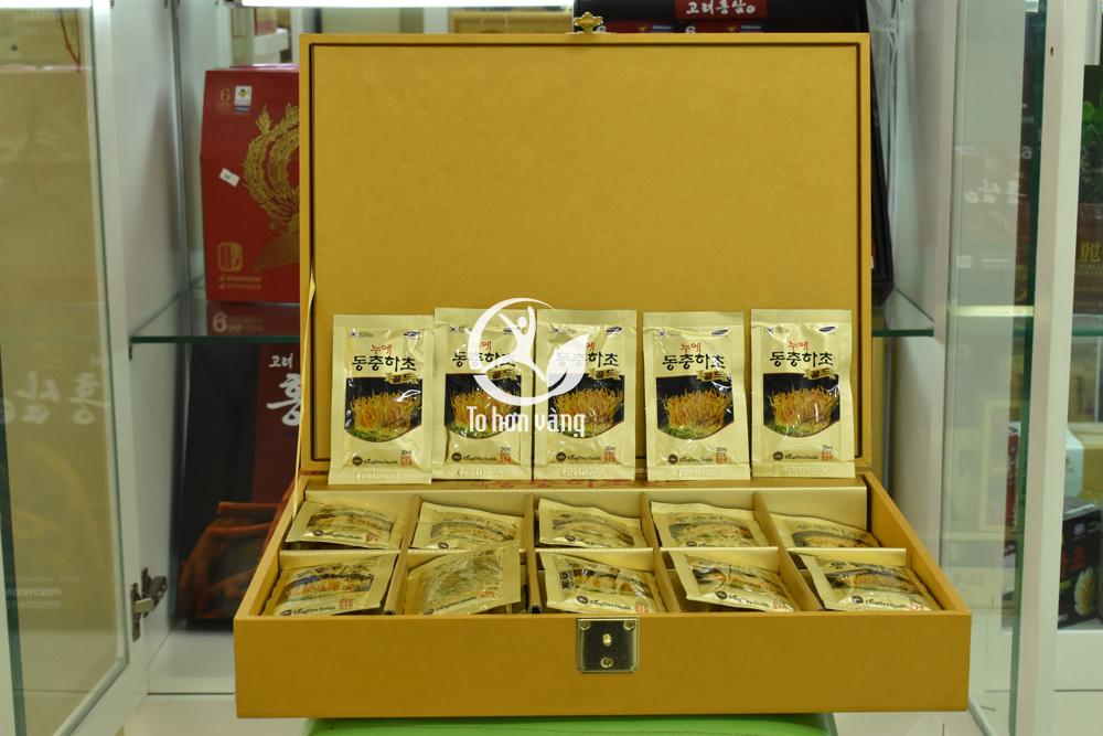 Nước đông trùng hạ thảo Hàn Quốc hộp vàng 60 gói Kwangdong