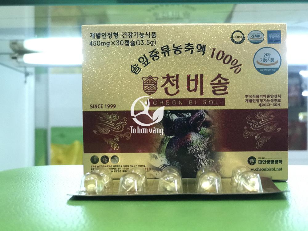 Tinh dầu thông đỏ Cheon Bi Sol là sản phẩm có giá thành cao cao nhất trong tất cả các loại tinh dầu thông đỏ Hàn Quốc
