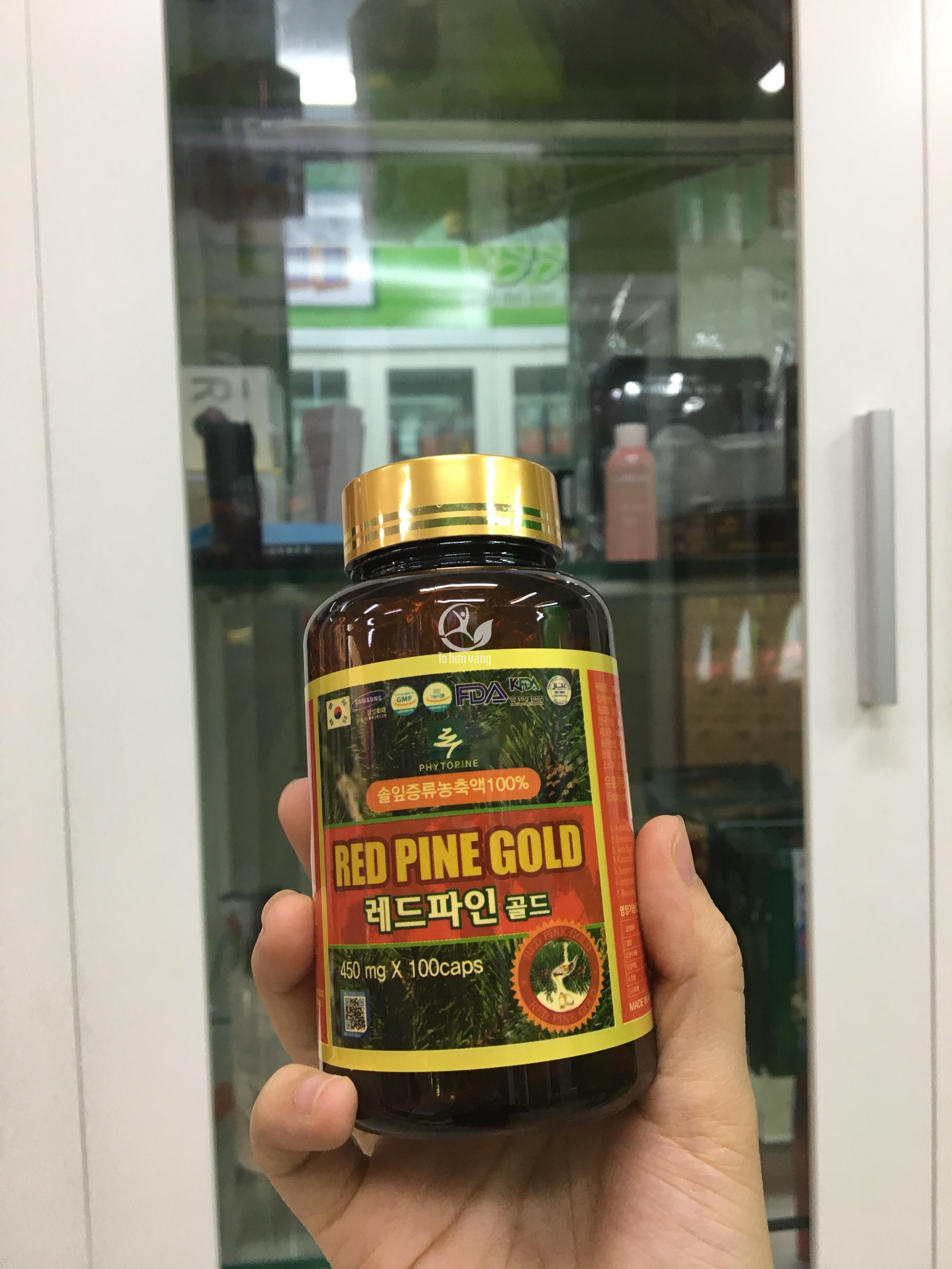 Viên tinh dầu thông đỏ Red Pine Gold phù hợp với người lớn và trẻ em trên 10 tuổi