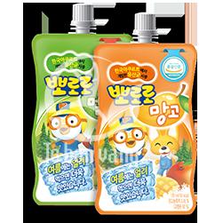 Nước hoa quả Pororo được sản xuất tại hàn Quốc, là nước giải khát ưa thích của nhiều trẻ em