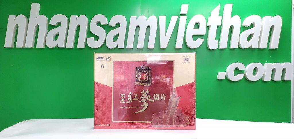 Hình ảnh: Hồng sâm lát tẩm mật ong Sambok Hàn Quốc 20gram x 10 gói