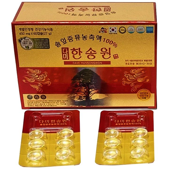 Sản phẩm Tinh dầu thông đỏ chính phủ Hàn Quốc Dami Hansongwon 60 viên