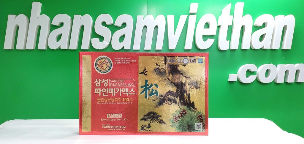 Hình ảnh: Tinh dầu thông đỏ Samsung 180 viên Pine Mega Max Hàn Quốc