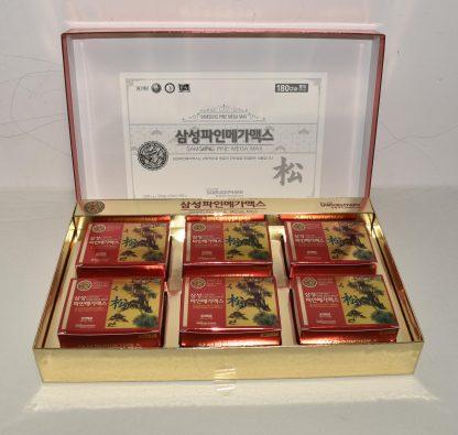 Hình ảnh hộp viên tinh dầu thông đỏ Samsung Pine Mega Max 180 viên Hàn Quốc