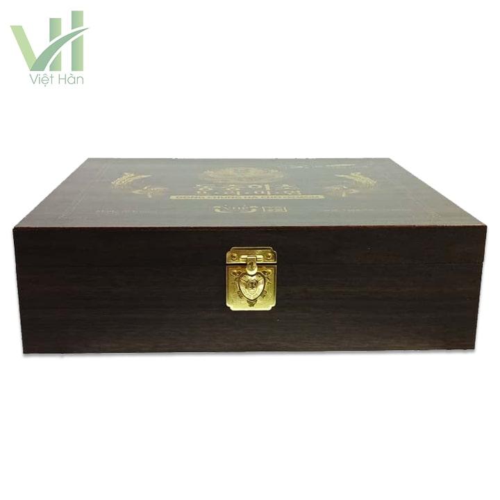 Bao quát hộp Nước Đông Trùng Hạ Thảo hộp gỗ đen 30ml x 60 gói
