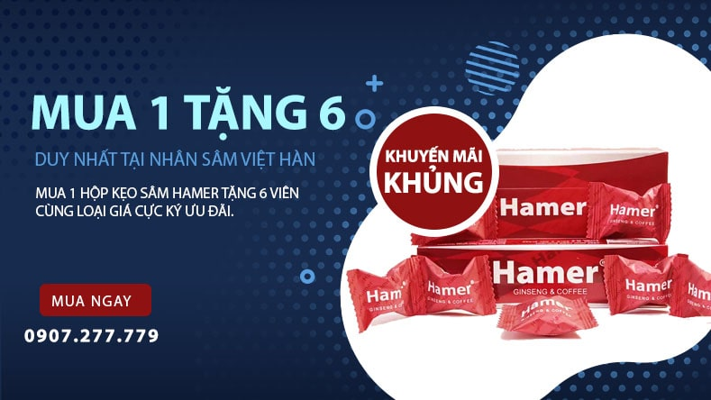 Giới thiệu sản phẩmKẹo sâm Hamer Mỹ chính hãng